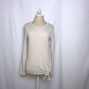 Madewell Long Sleeve Front Tie Shirt (Size: XS)
